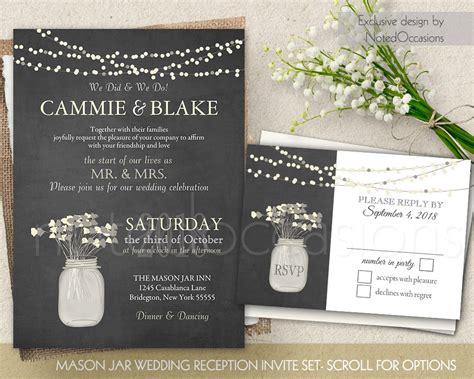 Hochzeitsfeier Einladung by I Do Bbq Wedding Reception Only Invitation Printable Set