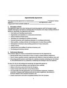 apprenticeship contract template apprenticeship agreement free