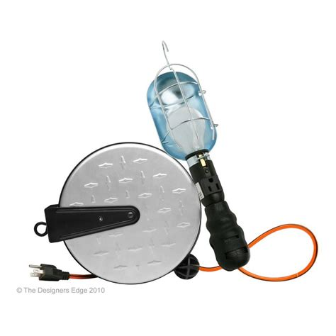 Designers Edge 25 Ft 14 3 Retractable Metal Cord Reel