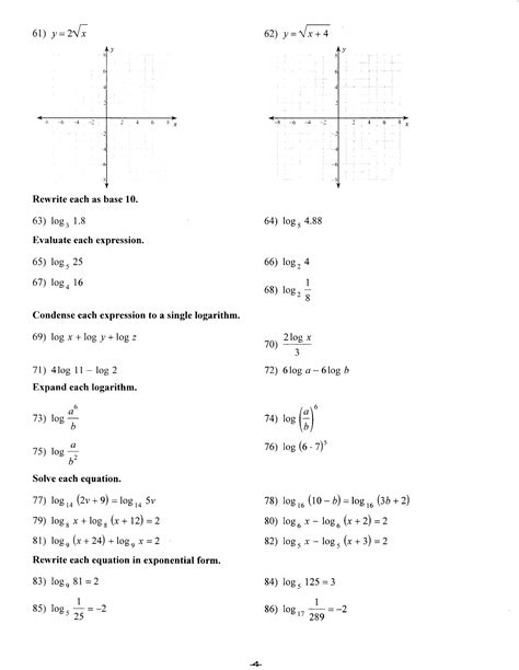 Math Worksheets Algebra 1
