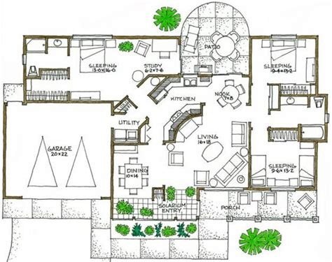 passive solar floor plans house plans closet space and the facts on pinterest