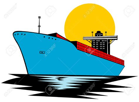 cargo boat clipart container clipart cargo boat pencil and in color