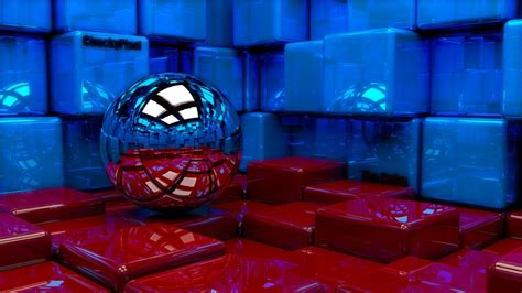 red  blue cubes  hd wallpapers hd wallpapers id
