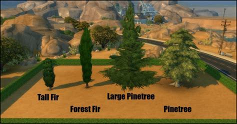 sims 4 cherry tree mod the sims unlocked pinetree pack 7 new trees by bakie sims 4 downloads