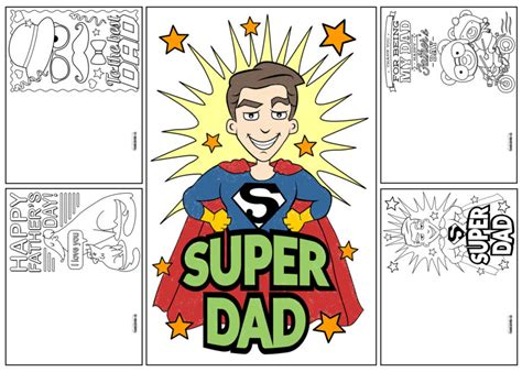 printable fathers day cards 4 free printable s day cards to color