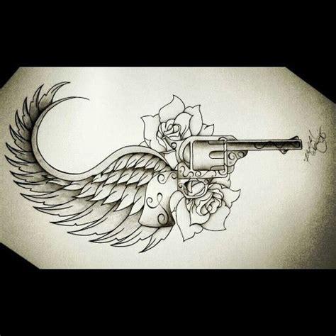 tattoo gun revolver tattoo ink wings revolver tattoos pinterest ink