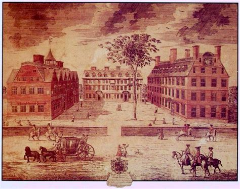 Center Hall Colonial colonial society in the 1700s by miles hodges
