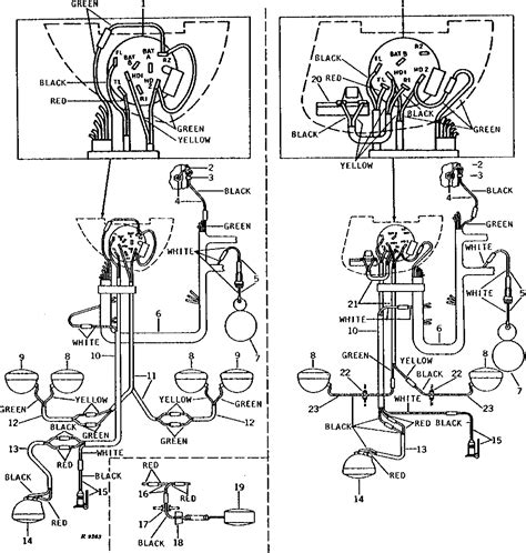 deere 3020 light switch wiring diagram