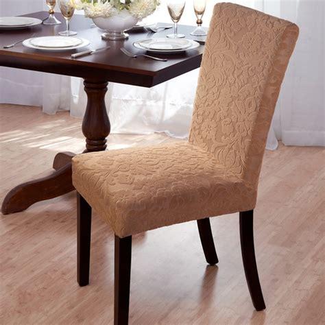 velvet damask stretch dining chair slipcovers  sale
