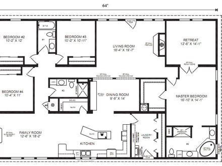 large modular home floor plans 4 bedroom house plans residential house plans 4 bedrooms