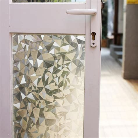 Window Films Stained Glass Vinyl Decal Static Privacy Decorative Privacy Door Glass Cling
