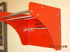 detachable tour pak sissy bar wall mount storage rack