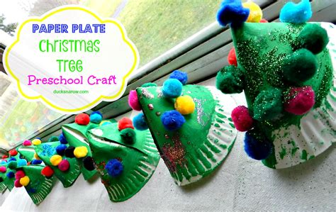 paper plate christmas tree craft for kids ducks n a row