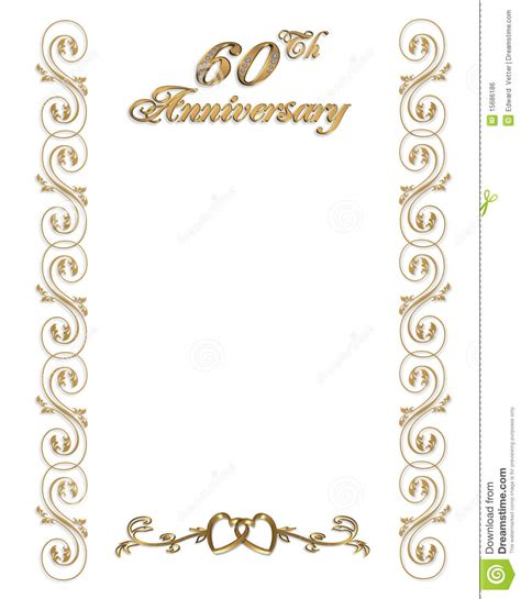 60th wedding anniversary card templates free 60th wedding anniversary invitations template best