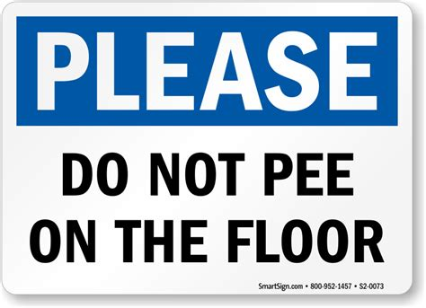 do not on the floor restroom etiquette sign