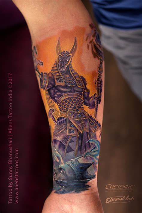 anubis tattoo by sunny bhanushali at aliens tattoo india