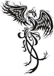 44 desenhos para tatuagens de f 234 nix na barriga na perna