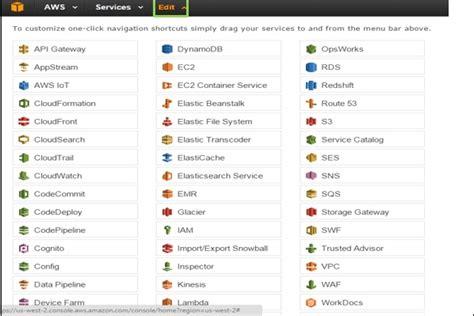 web services management console web services management console