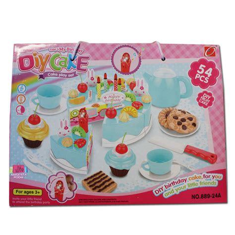 Diy Fruit Cake Pink 54 Pcs Mainan Anak Cewek Kue Tart Hadiah Kado Na diy fruit cake toys 54pc magenta room