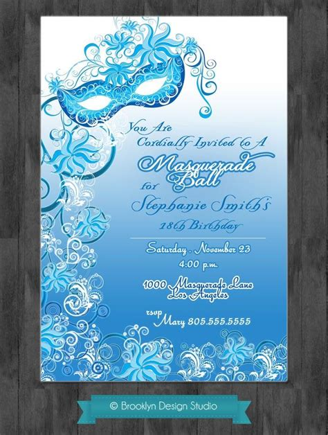 free masquerade invitation templates masquerade custom designed invitation digital file
