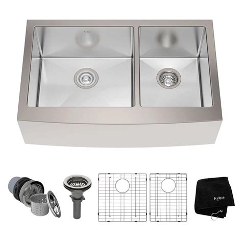 Home Depot Farmhouse Sink by Kraus Farmhouse Apron Front Stainless Steel 33 In