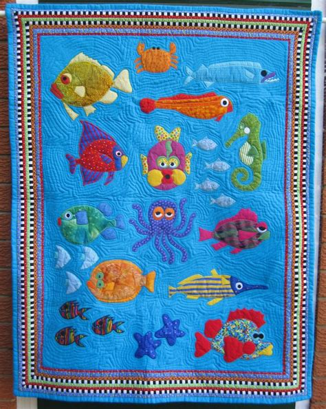Cot Quilt Patchwork Patterns - applique fish quilt quilts quilts quilts