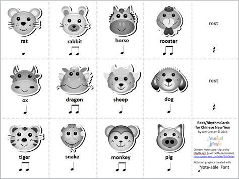 rhythmic pattern activities mymusicalmagic music literacy activities for chinese new year