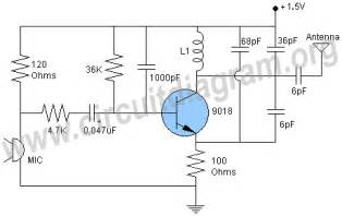 1 5v wireless fm transmitter circuit circuit diagram