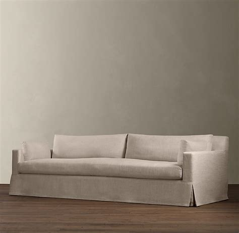 restoration hardware slipcover sofa restoration hardware sofa slipcover belgian track arm