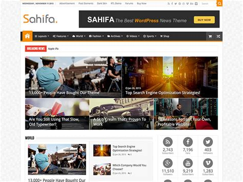 sahifa theme version sahifa responsive wordpress news magazine blog theme