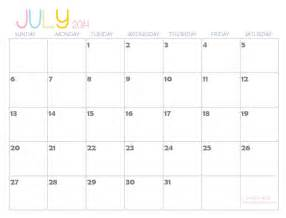 July 2014 Calendar Template by Free Large Printable Calendar Templates Calendar