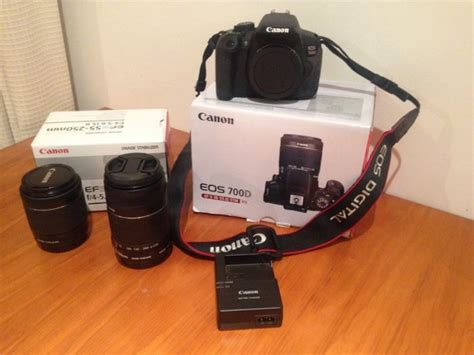 Canon Eos 700d Kit 1 canon eos 700d kit ef s18 55 is stm plus canon ef s 55 250mm f4 56 is ii for sale in clongriffin