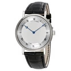 breguet classique automatic ultra slim silver leather