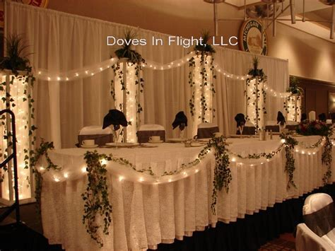 images head table   university club head table bows tulle