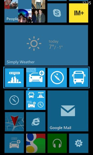 windows phone 221 tæ á ng vá live folders tr 234 n home screen