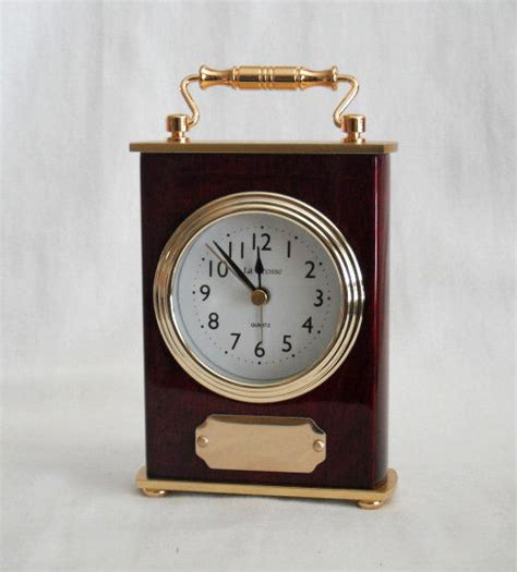 mantle carriage alarm clock personalized executive recognition engraved gift ebay