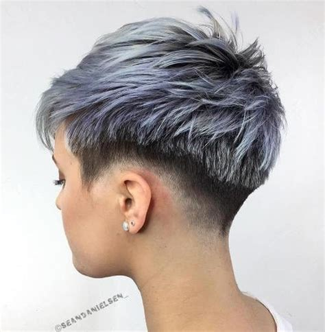 spikey shaved sassy and edgy shaved hairstyles for females 2017