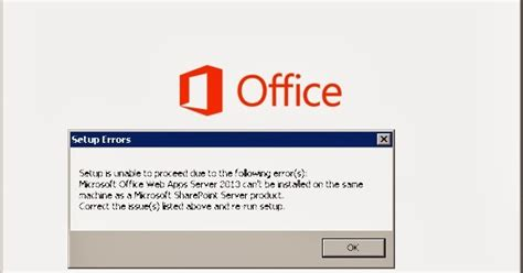 Ms Office Web Microsoft Office Web Apps Server 2013 Can T Be Installed