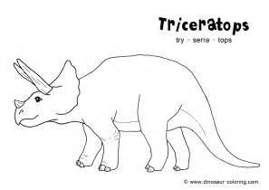 dinosaur color triceratops coloring