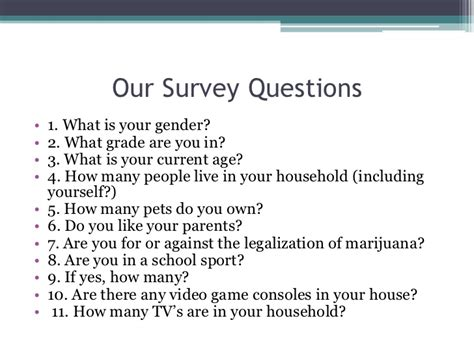 What Is Survey - statistical survey project