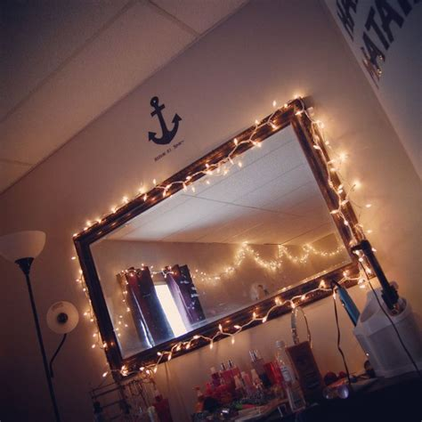 lights around bed tumblr room mirror with lights around them perfect bedroom pinterest string
