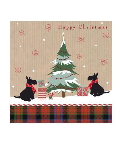 scotties  tartan christmas cards pack   cancer research uk  shop