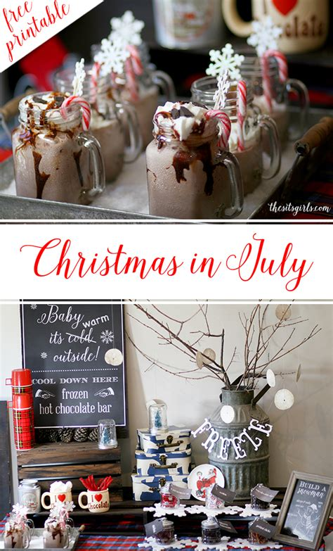christmas in july party ideas build a snowman party