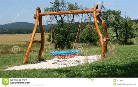 swing objects playground swing stock image image 32318511