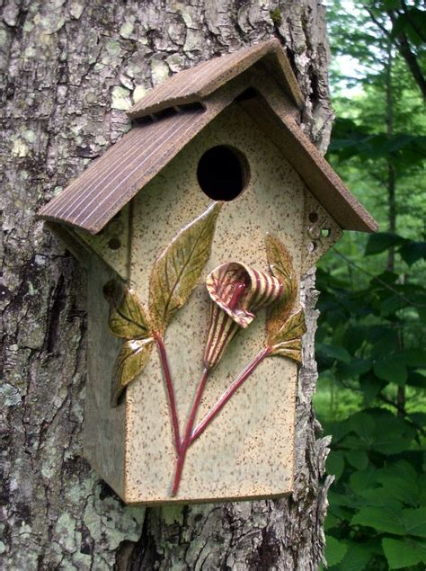Ceramic Birdhouses Handmade - 17 best images about pottery for the garden on