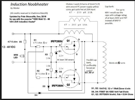 zvs induction heater schematic pdf 28 images zvs induction heater indukčn 237 ohřev iii s
