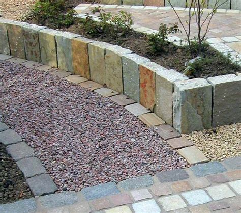 decorative garden stones contemporary modern garden with gravel and grasses stone