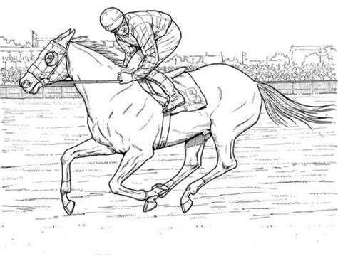kids horse racing coloring pages horse decor pinterest
