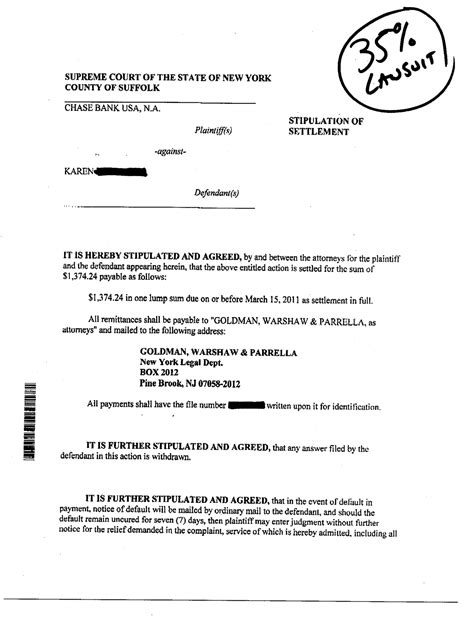 Letter To Bank For Settlement Of Loan lawsuit debt settlement resultls debt lawyers new york