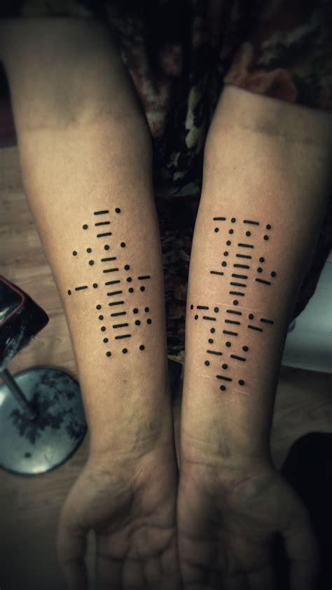 Morse code tattoo by phoenixtattoos on DeviantArt